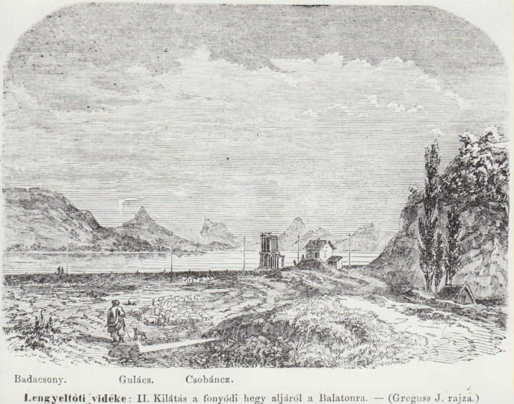 Badacsony hegye Fonyód felől. Magyarország Képekben 1867. 373.