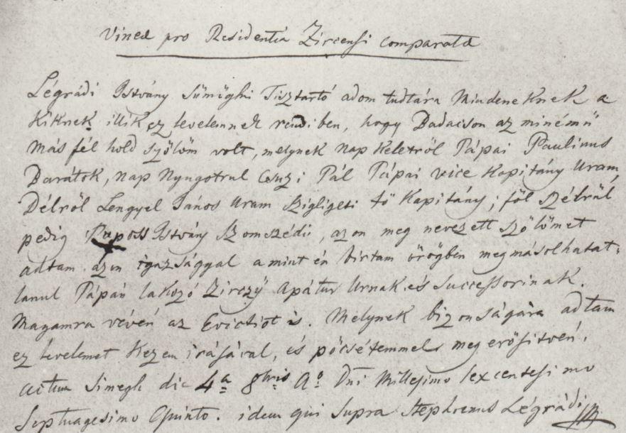Badacsonyi szőlők adásvételei. 1676. Veszprém Megyei Levéltár, Veszprém.F