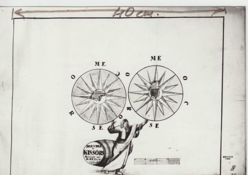 Kisőrsi szőlők rajzai, 1772. Magyar Országos Levéltár, Térképtár